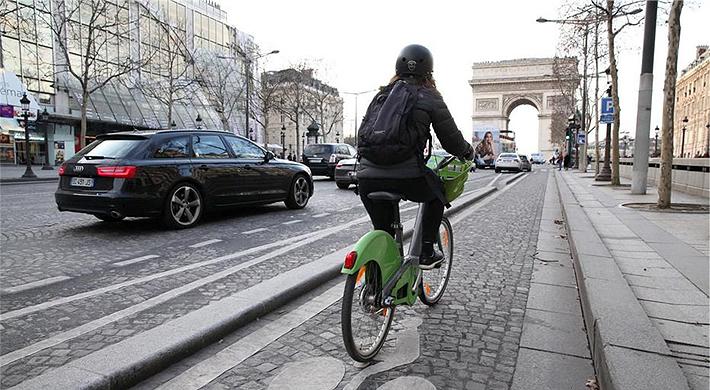 샹젤리제 자전거 전용도로