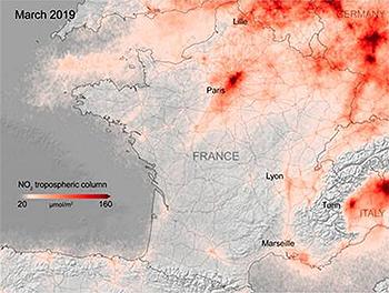 2019년 파리시 이산화질소
