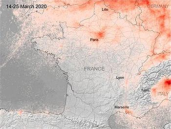 2020년 파리시 이산화질소